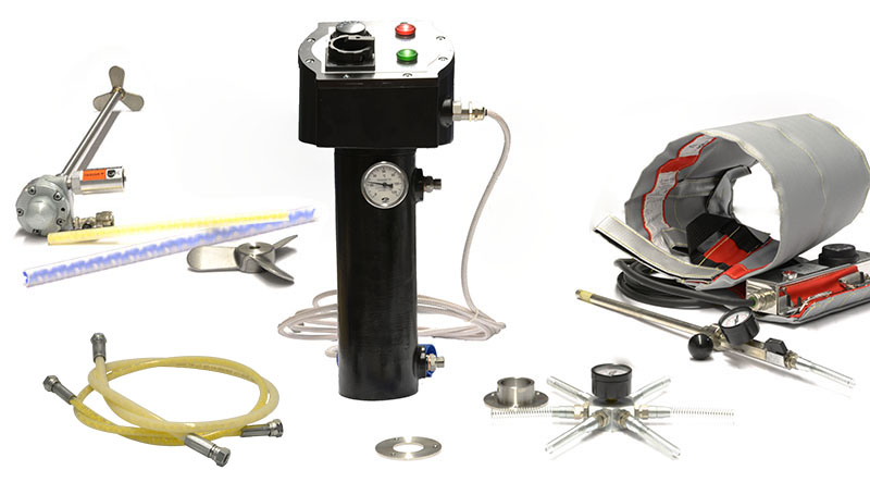 Berizzi mixing and heating accessories